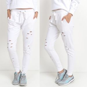 JUDY Cut out Joggers - WHITE